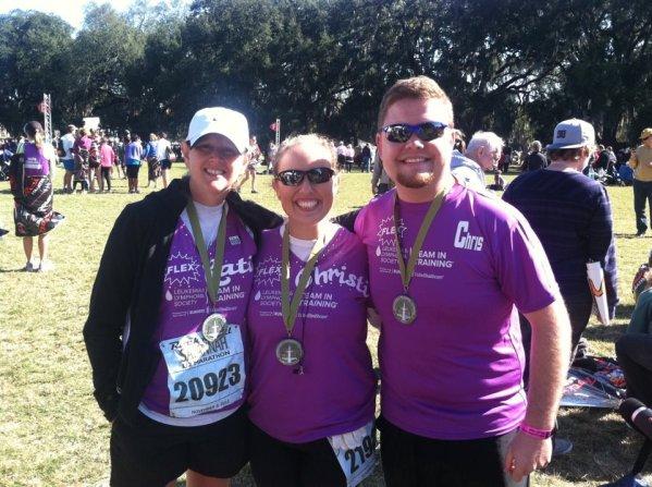 My first TNT event in Savannah, Georgia, 2011.  I ran a 1/2 marathon.